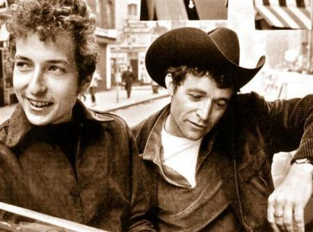 Rambling Jack Elliot with a young Bob Dylan, early sixties