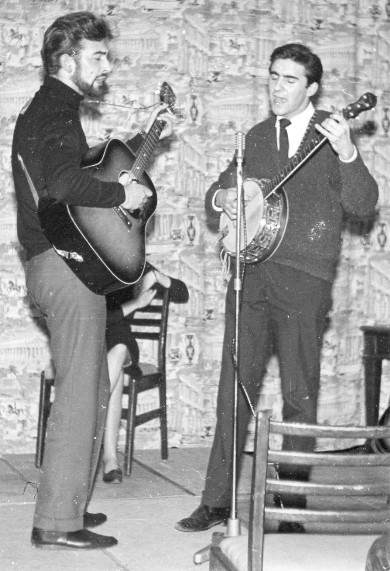 Roger Frost (banjo) and me